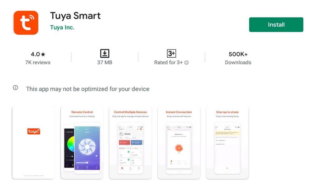 Ứng dụng Tuya Smart