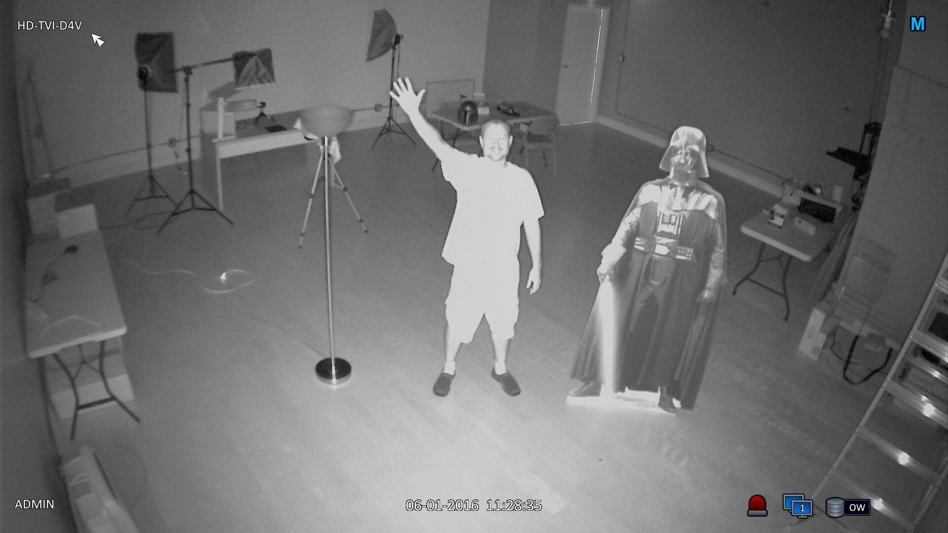 Hình ảnh thực thế Laser LED trên camera