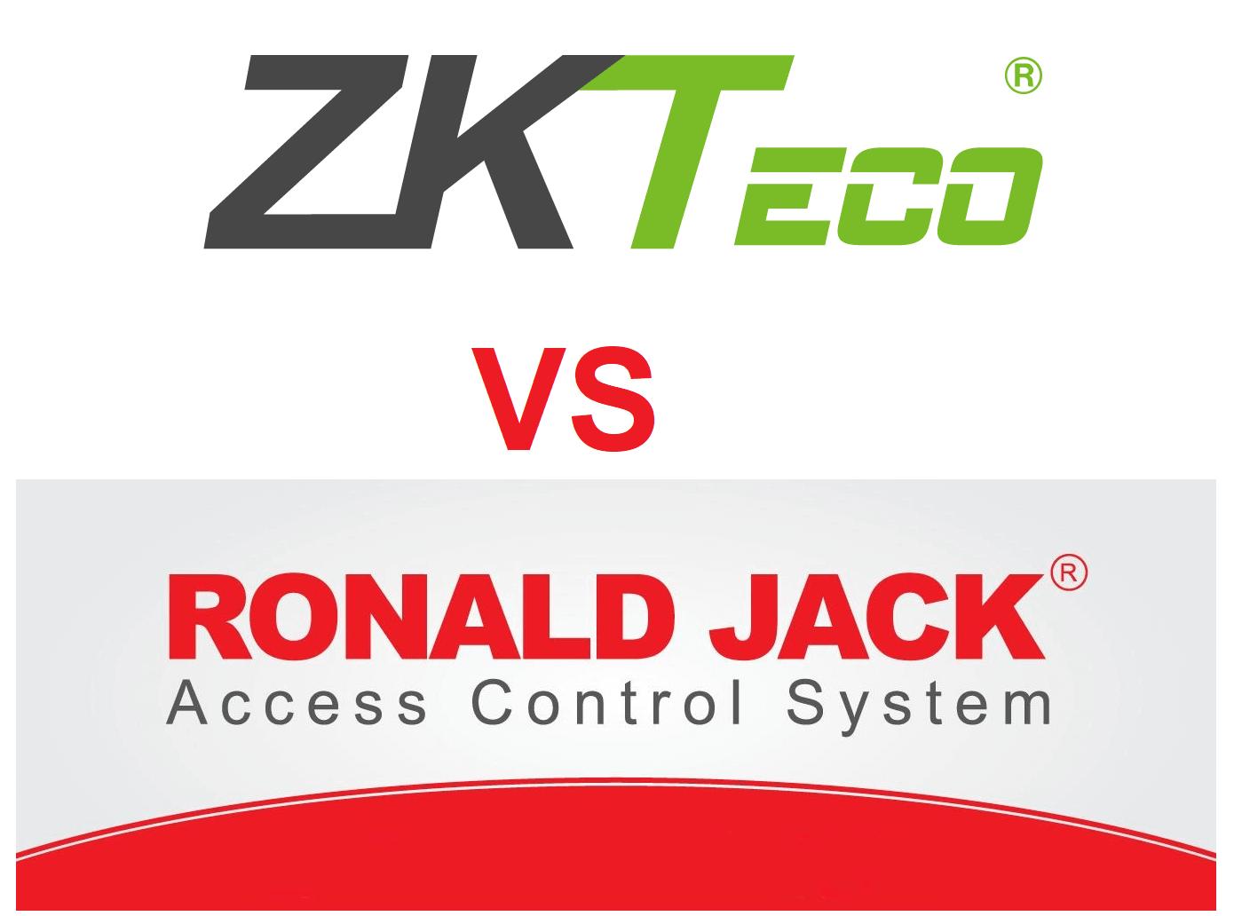 Nên chọn mua máy chấm công ZKTeco hay Ronald Jack ?