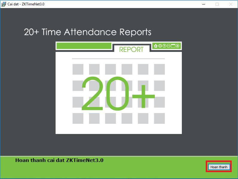 Hướng dẫn cài đặt phần mềm chấm công ZKTime net 3.0