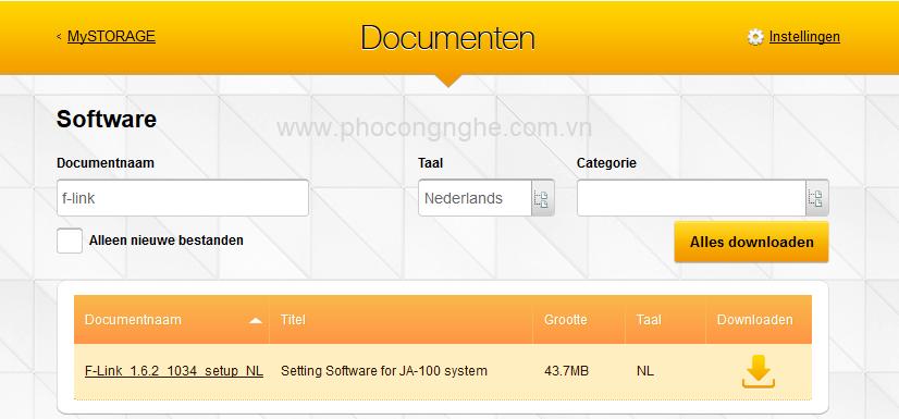 Hướng dẫn tải phần mềm F-LINK cài đặt báo động Jablotron 100