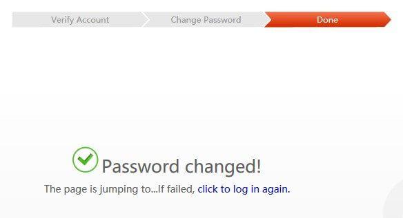 Khôi phục mật khẩu qua giao diện Web