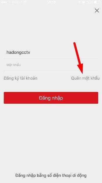 Khôi phục mật khẩu qua phần mềm Hik-Connect trên smartphone