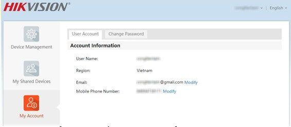 Cách khôi phục mật khẩu tài khoản hik-Connect