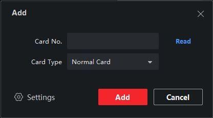 Thêm thẻ từ cho người dùng