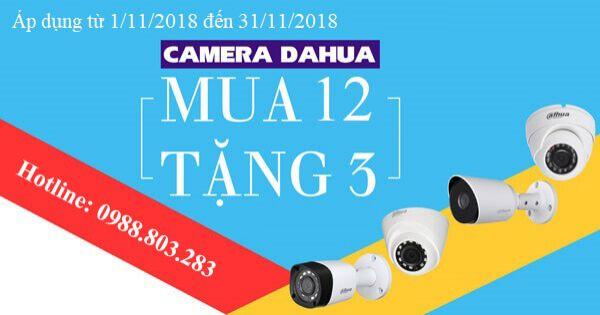 Để hỗ trợ khách hàng trải nghiệm các sản phẩm mới Dahua triển khai chương trình Siêu khuyến mãi Mua 12 tặng 3:
