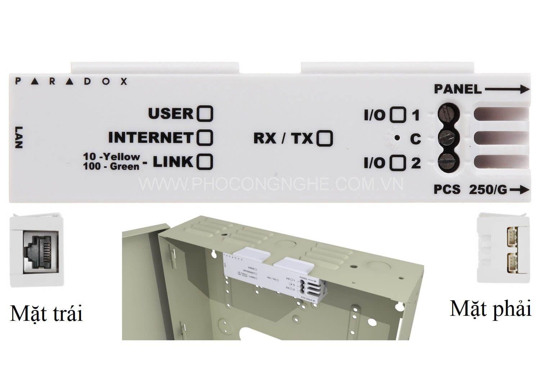 Mô tả chi tiết bộ kết nối mạng Paradox IP50