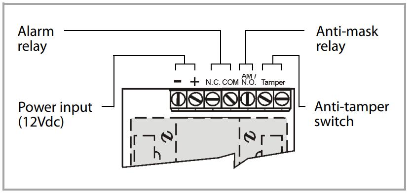 Kết nối đầu ra rơle AM Paradox 525D