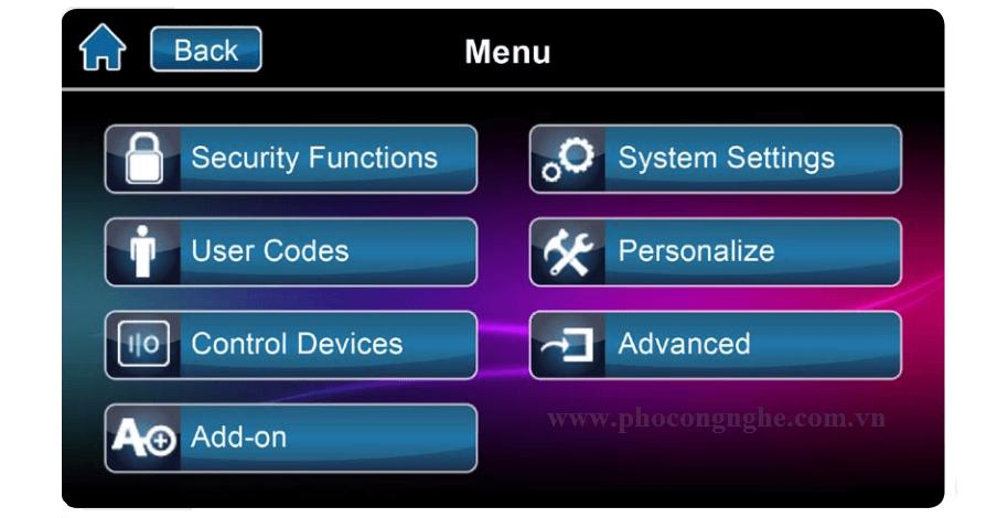 Hướng dẫn sử dụng bàn phím cảm ứng Paradox TM50 - hình 2