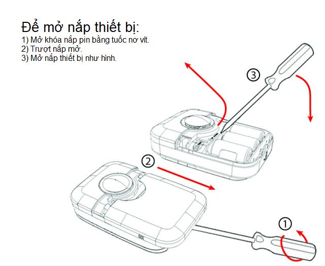 Hướng dẫn tháo lắp Pin cho còi báo động Paradox SR120