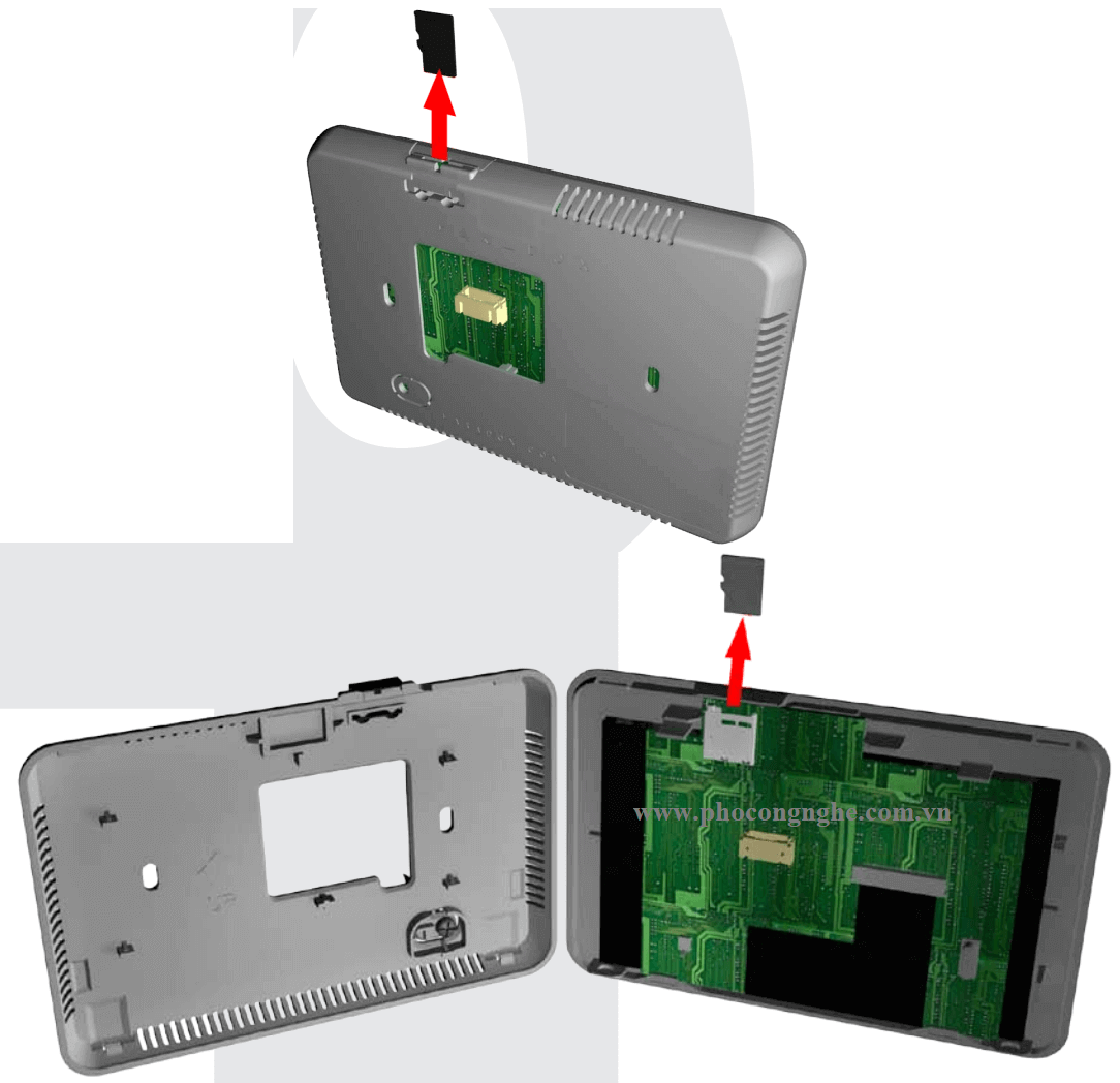 Hướng dẫn tháo lắp thẻ nhớ bàn phím Paradox TM50