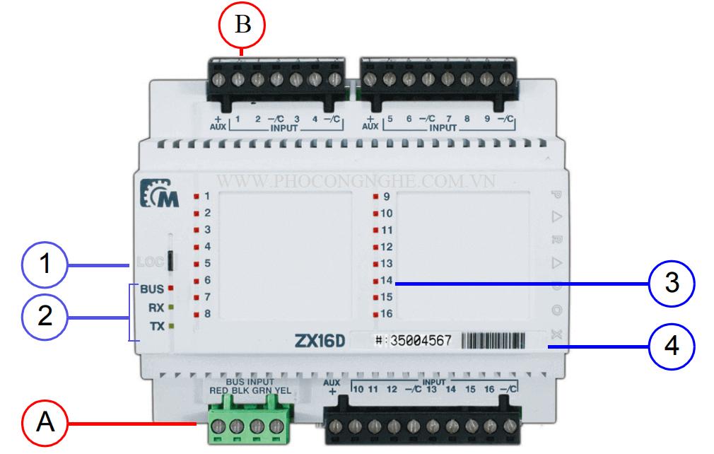 Tổng quan bộ mở rộng 16 vùng có dây Paradox ZX16D dùng cho tủ báo động EVO192