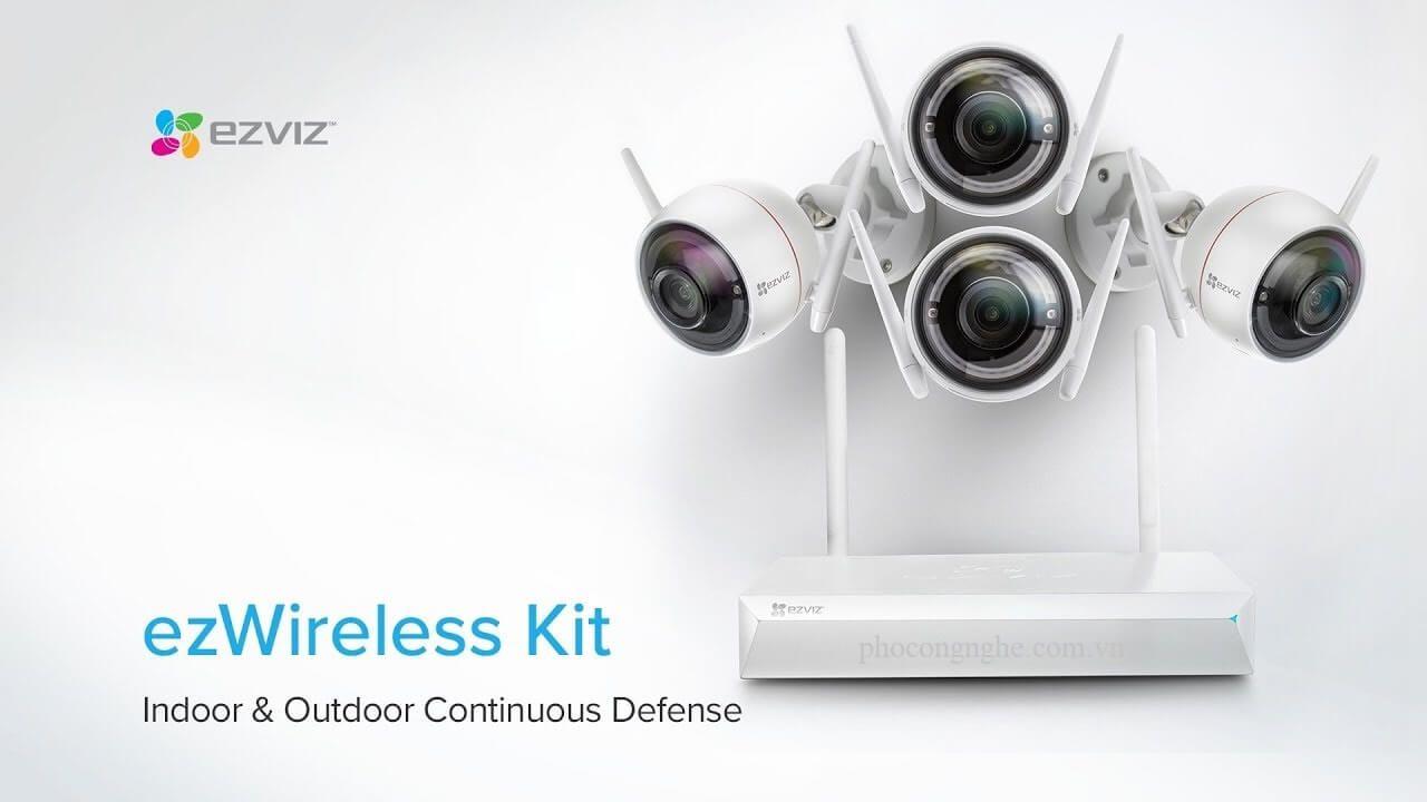 Bộ Kit camera Wifi Ezviz CS-BW3424B0-E40