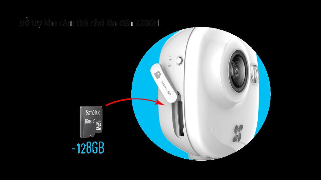 Hỗ trợ lưu trữ video ghi lại bằng thẻ nhớ Micro SD