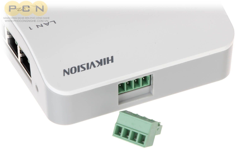 Chi tiết bộ cấp nguồn PoE chuông hình IP Hikvision DS-KAD606-P