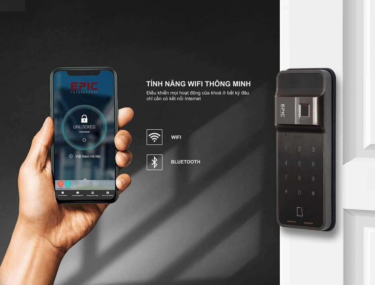 Mở khóa bằng điện thoại