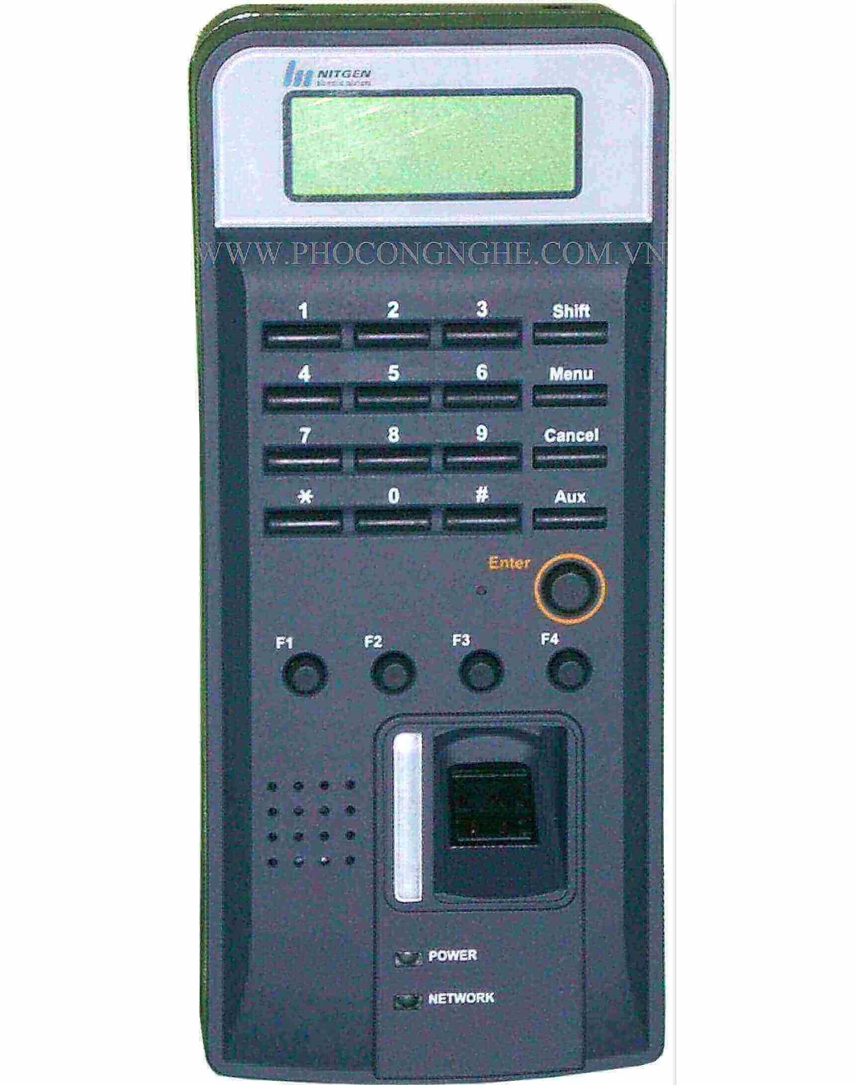 Máy chấm công thẻ từ và mật khẩu Nitgen NAC-2500NRC