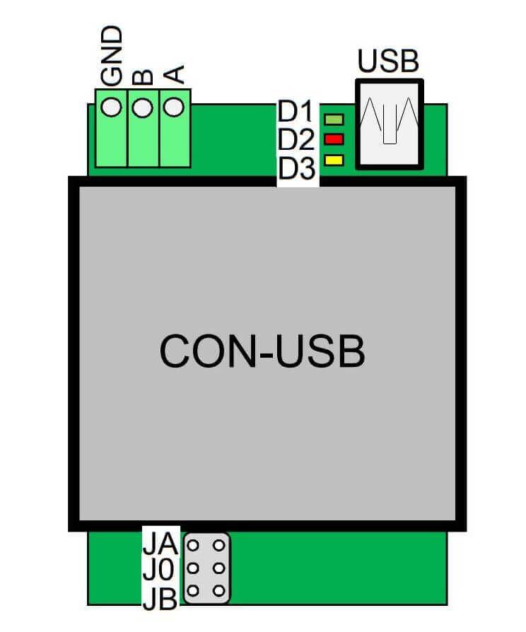 Sơ đồ các Jum đấu nối dây của Techfass APSUSB