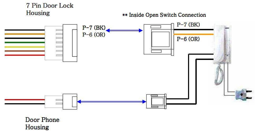 Cách đấu dây chuông cửa cho máy chấm công VIRDI AC 4000