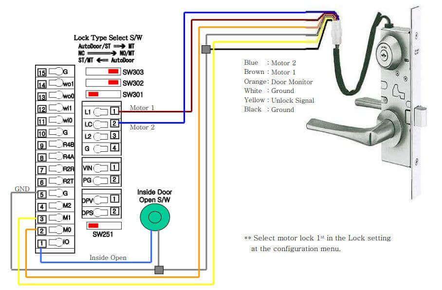 Cách đấu dây khóa cửa cho máy chấm công VIRDI AC 6000