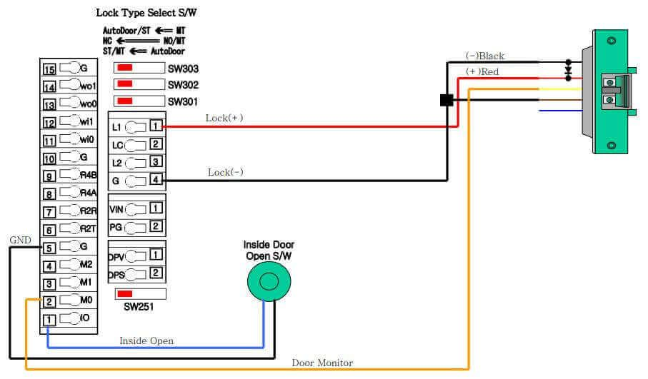 Cách đấu dây khóa ngoàm cho máy chấm công VIRDI AC 6000