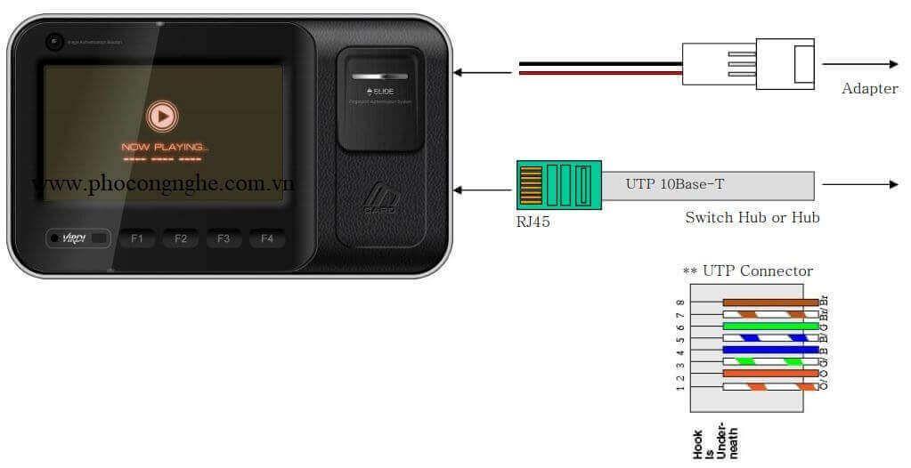 Hướng dẫn đấu dây máy chấm công VIRDI AC 6000