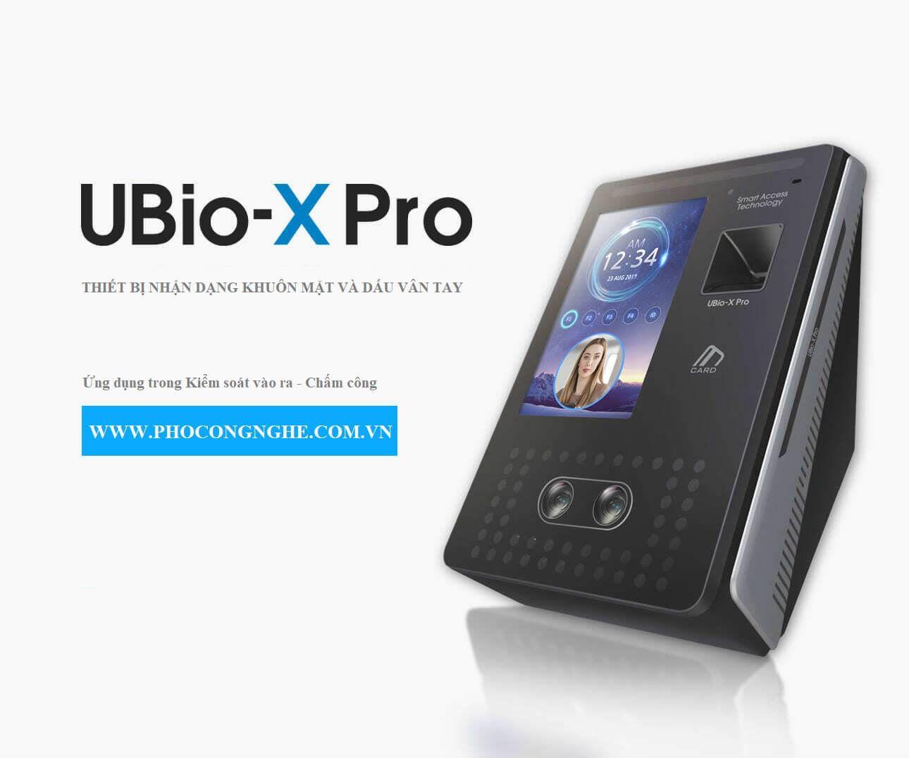 Thiết bị kiểm soát vào ra bằng vân tay và khuôn mặt VIRDI UBio-X Pro Lite
