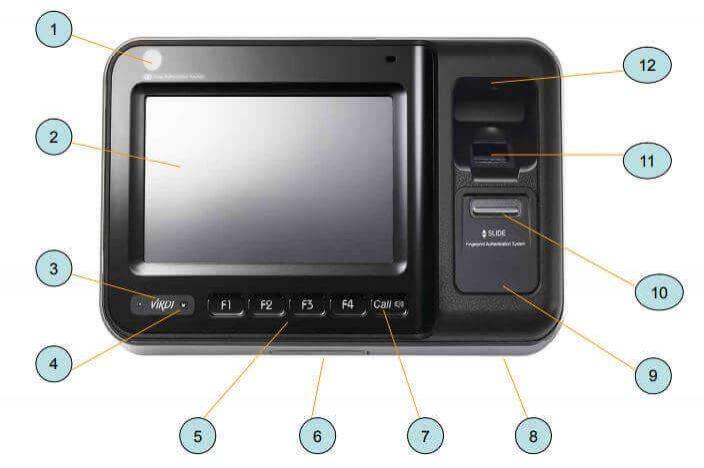 Máy chấm công vân tay VIRDI AC 6000 chi tiết