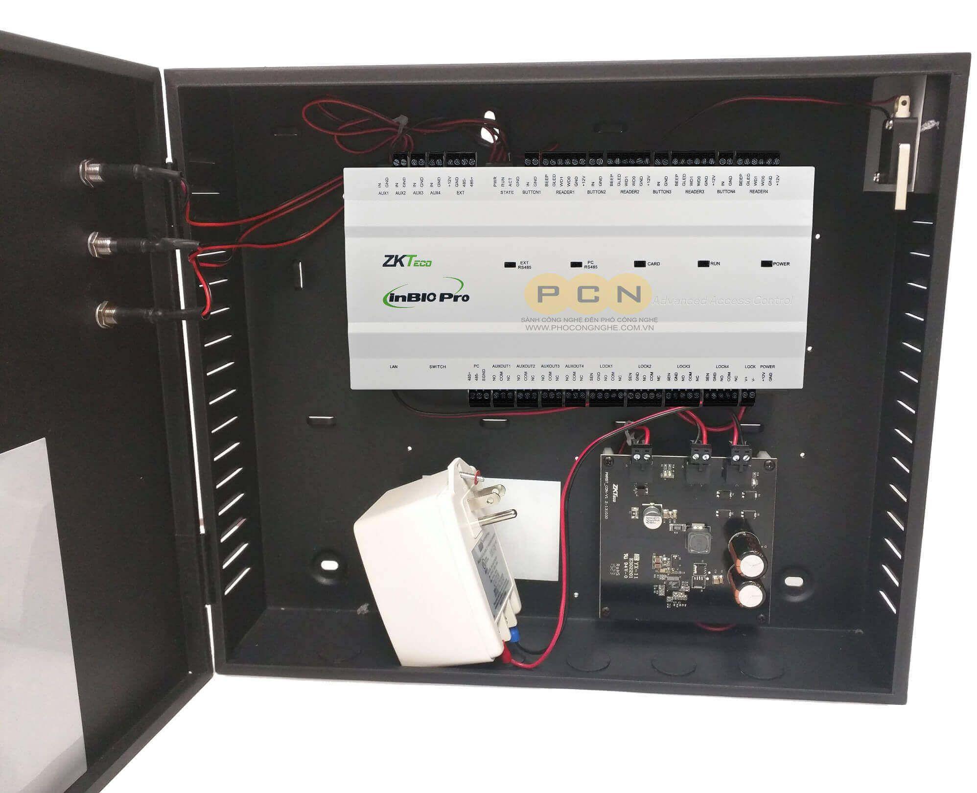 Bộ điều khiển trung tâm 4 cửa ZKTeco inBIO460 Pro