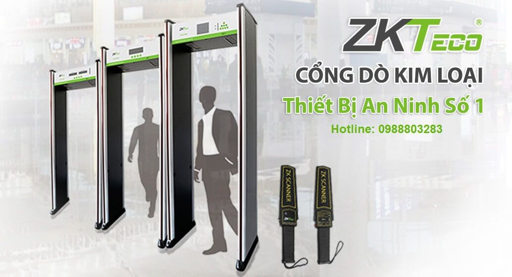 Cổng dò kim loại cao cấp ZKTeco ZK-D1065S