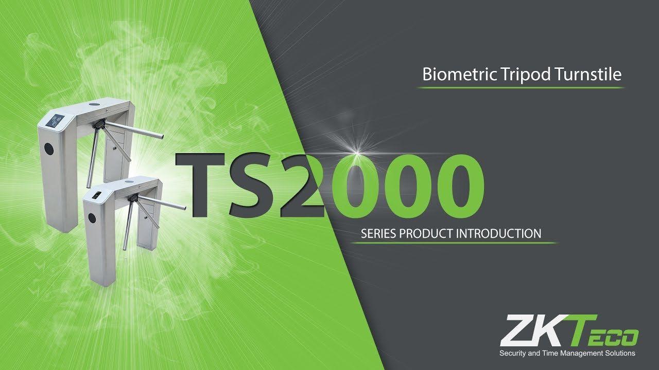 Cổng xoay thanh chắn 3 càng Tripod turnstiles ZKTeco TS2000