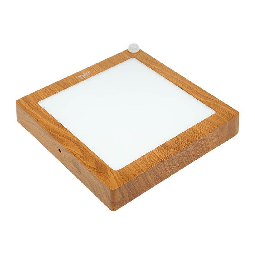 Đèn LED ốp trần vân gỗ cảm ứng Duxa PN12 công suất 12Wv