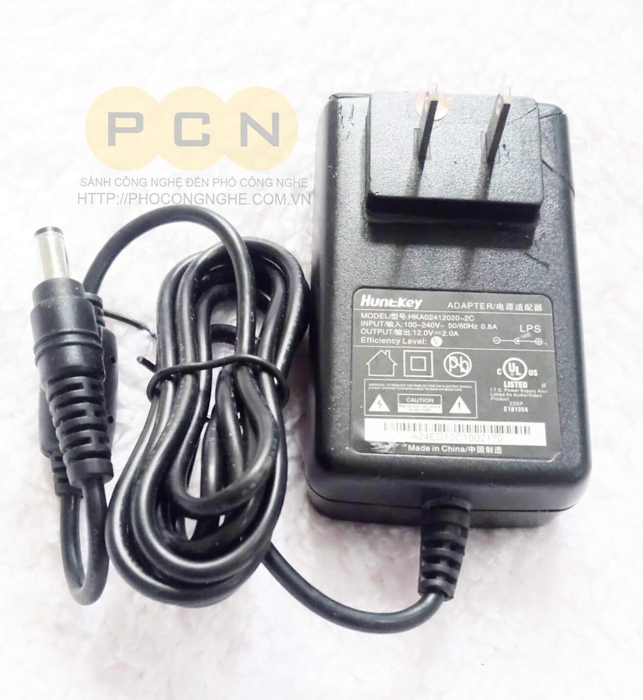Nguồn cấp Hunkey 12VDC-2A dùng cho Camera an ninh