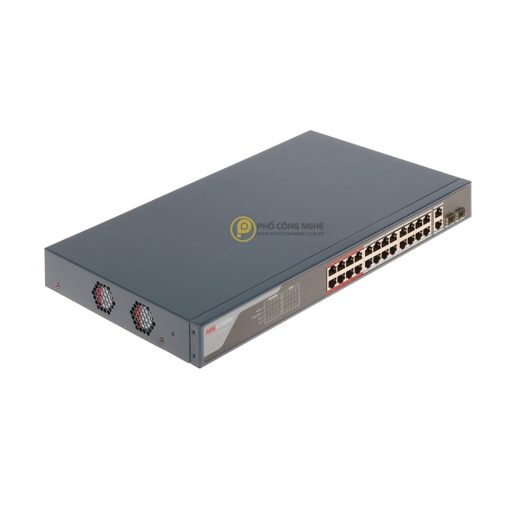 Switch PoE 24 Port Hikvision DS-3E1326P-EI