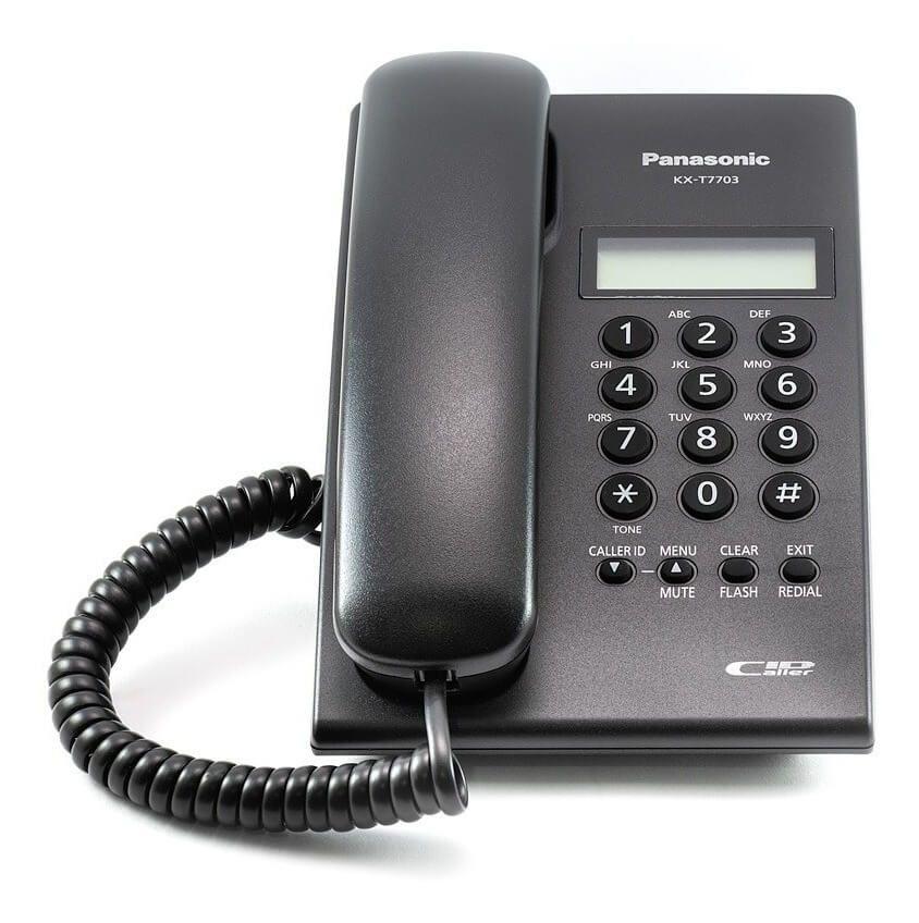 Điện thoại để bàn Panasonic KX-T7703 màu đen