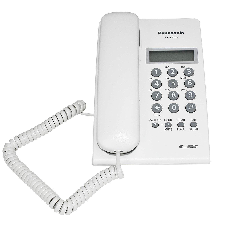 Điện thoại để bàn Panasonic KX-T7703 màu trắng
