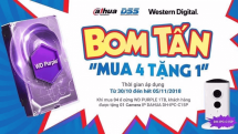 """Chương trình khuyến mại Ổ cứng WD Purple 1TB """"MUA 04 TẶNG 01"""""""