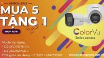Khuyến mãi mua 5 tặng 1 camera Hikvision ColorVu