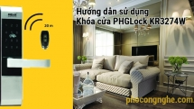 Hướng dẫn sử dụng khóa cửa điện tử PHGLock KR3274W