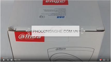 Giới thiệu Camera Dome HD-CVI 2MP Dahua HAC-HDW1200EMP-A-S3