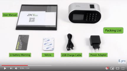 Giới thiệu máy chấm công vân tay wifi ZKTeco D1