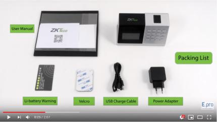 Giới thiệu máy chấm công vân tay wifi ZKTeco D2