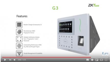Giới thiệu máy chấm công vân tay wifi ZKTeco G2|G3
