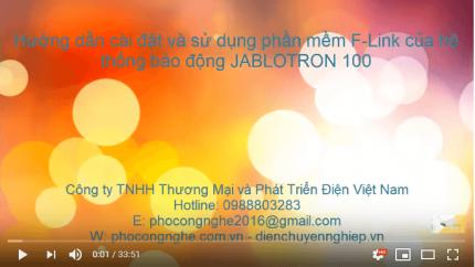 Hướng dẫn cài đặt và sử dụng phần mềm F-Link của hệ thống báo động Jablotron 100